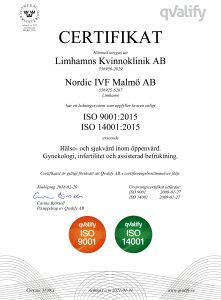 ISO Certifikat Limhamns Kvinnoklinik